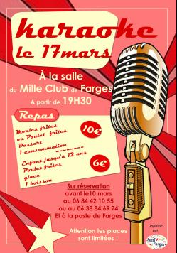 Affiche karaoke 3